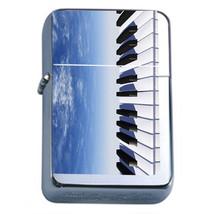 Piano Keys Em2 Flip Top Oil Lighter Wind Resistant With Case - $12.82