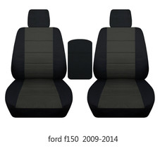 Front set seat covers fits FORD F150 TRUCK 2009-2014 buckets with console lid  - $99.99