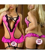 Women's Sexy Lingerie Low V Front/Back Babydoll Romper 1Pc 2XL Party! - $10.95