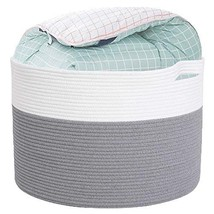 Laundry hampers Collapsible with 100% Hand-Woven Cotton Rope, 22''X22''X... - £51.91 GBP