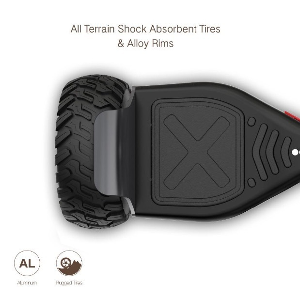 "2018 All-Terrain 8.5"" Bluetooth Speaker Off Road Balance Scooter HoverBoard"
