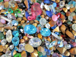 500 Pc.LOT! NEW GLASS GEMSTONES For CRAFTING/HIGH Quality-U.S SELLER FAS... - $19.03