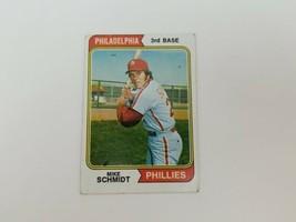 1974 Topps Mike Schmidt #283 VG Small Surface Crease Philadelphia Phillies HOF - $9.74