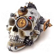 NIB Erasmus Darwin's Steam-Cerebrum Skull Drawer Statue Decor V4 Alchemy... - €40,81 EUR