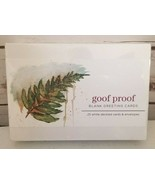 goof proof BLANK GREETING CARDS - 25 white deckled cards and envelopes. NEW - $17.63