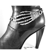 Skeleton Hand Spooky Boot Chain Jewelry Accessory Halloween Costume Dead... - $19.99