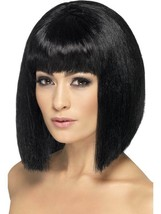 Long Black Straight Wig, Coquette Wig. With Fringe, Fancy Dress Accessory - $9.11