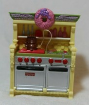 Fisher Price Loving Family Stove Sounds Teapot Doll House Furniture Kitc... - $15.83