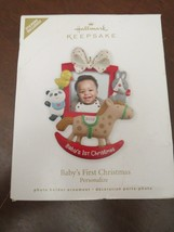 HALLMARK KEEPSAKE ORNAMENT Baby's First Christmas - Personalize - Photo ... - $9.00