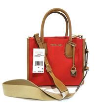 Michael Kors Mercer Medium Canvas Messenger Handbag Purse Terracotta NEW - $115.64