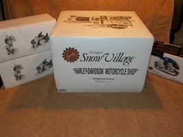 Dept 56 Harley Davidson Motorcycle Shop Includes Riders, Motorcycles and  - $104.57