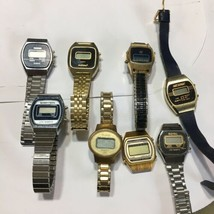 Vtg LCD Quartz Watches Timex Bulova Nelsonic  Mercury Medana Womens Part... - $31.68