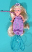 "Barbie Magical Mermaid Krissy Blonde Hair 3"" Doll Baby Jointed Dressed C... - $11.95"