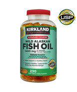 NEW Kirkland Signature Wild Alaskan Fish Oil 1400 mg., 230 Softgels **FR... - $31.99