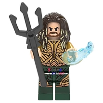 Super Heroes Aquaman King Atlantis DC Justice League Minifigures Lego Bl... - $1.99