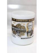 Federal Milk Glass Coffee Mug Cup Sam Houston Memorial Museum Huntsville... - $9.89