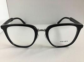 New PRADA VPR 1T0 1AB-1O1 51mm Round Black Eyeglasses Frame  - $189.99
