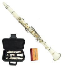 Merano New Bb White Clarinet with Case and Extra 10 Reeds - $86.99