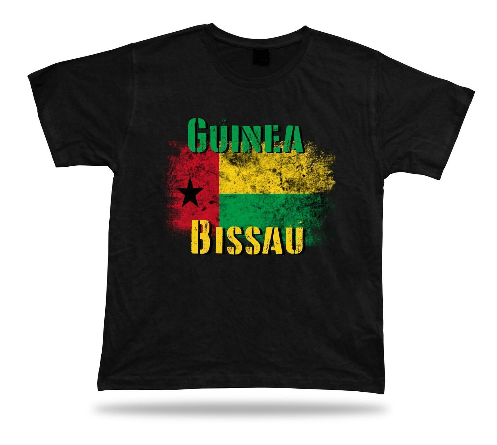 Primary image for Guinea-Bissau flag Tshirt T-shirt Tee top city map Cape Verde pan african gift