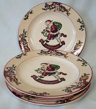 Fitz and Floyd Santa's List Salad Plate Set of 4 - $50.38