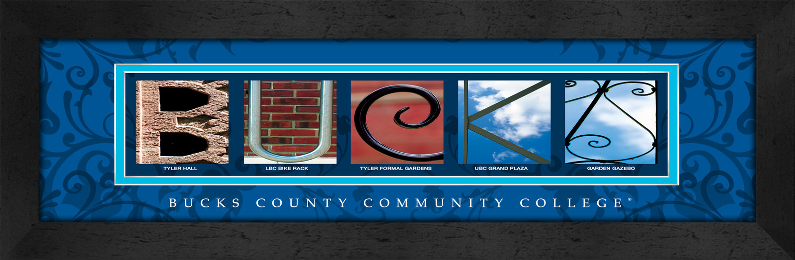 Primary image for Bucks County Community College Officially Licensed Framed Campus Letter Art
