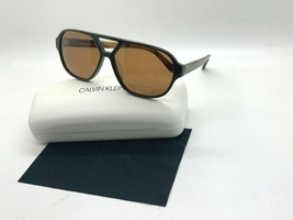 New Calvin Klein Sunglasses CK18504S 201 Brown 59-13-140MM Case - $43.62