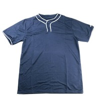 Alleson Performance 2 Button Placket Baseball Jersey Navy White Piping Y... - $11.49
