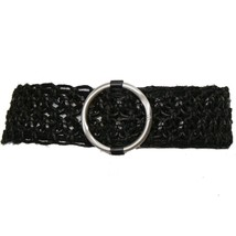 RALPH LAUREN Black Hemp Leather Macrame O-Ring ... - $59.99