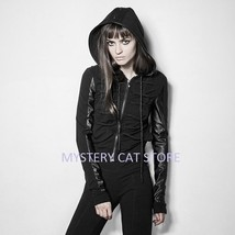 New PUNK RAVE Gothic Rock Heavy Metal Black Hoodie Jacket PY194 FAST POS... - $70.39