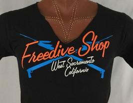 Freedive Shop West Sacramento California Black Graphic T Shirt S Small - $9.80