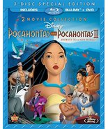 Disney Pocahontas/Pocahontas 2 Journey To A New World (3 Disc Blu-ray/DV... - $11.21