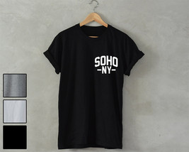 SOHO NY Shirt pocket print unisex soho NY t-shirt hipster fashion dope n... - $14.99