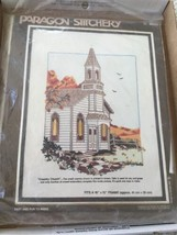 COUNTRY CHURCH Paragon Stitchery Crewel Embroidery Kit New Sealed Vintag... - $14.72