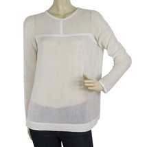 Neil Barrett White 100% Cotton Relaxed Oversize Perforated Blouse Top Si... - $123.75
