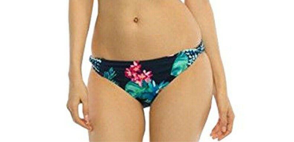 Coco Reef Bikini Bottom Sz S Navy Blue Multi Floral Side Twist Swimwear U53065
