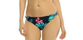 Coco Reef Bikini Bottom Sz S Navy Blue Multi Floral Side Twist Swimwear ... - $19.71