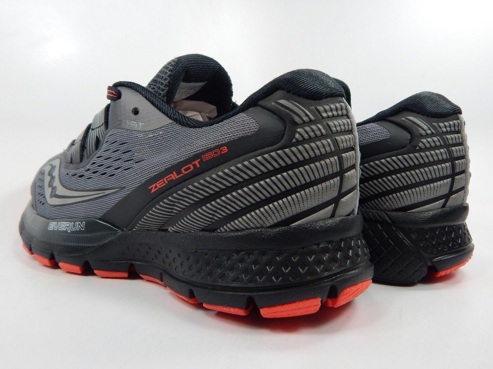 Saucony Zealot ISO 3 Women's Running Shoes Size US 8 M (B) EU 39 Grey S10399-1