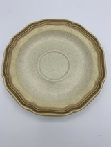 "Mikasa Whole Wheat E8000 beige stoneware 6"" saucers dessert plates - $10.00"