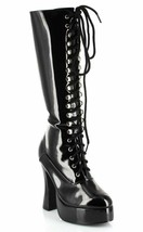 ELLIE EASY BLACK CHUNKY COMBAT LACE UP COSTUME PUNK GOTH WOMENS BOOT HEE... - $54.95