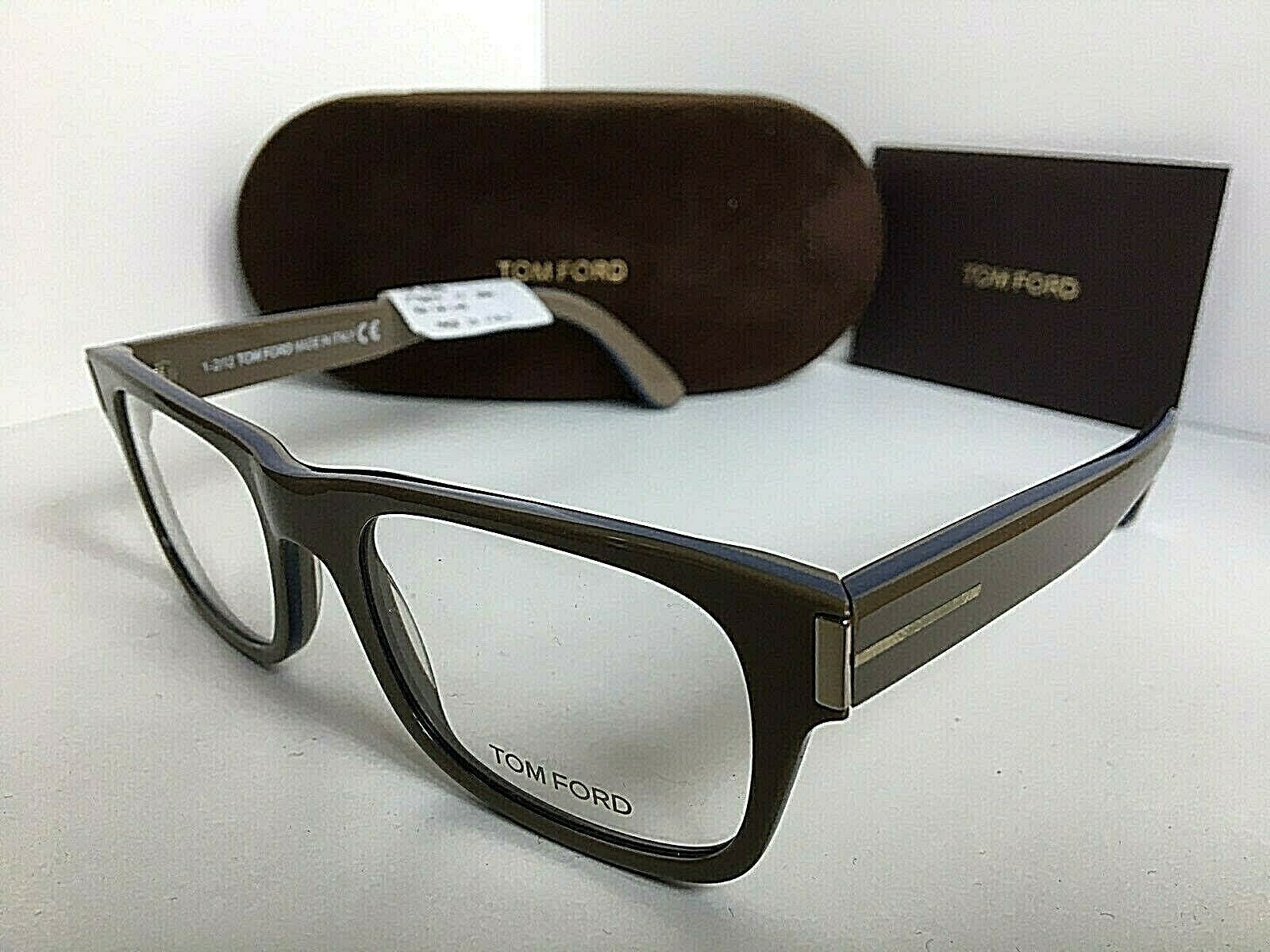 New Tom Ford TF 5274 090 Beige 52mm Rx Eyeglasses Frame Italy