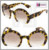 MIU MIU RASOIR Round Light Brown Havana Gradient Sunglasses 07Q MU07QS W... - $267.29