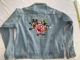 Vtg Warner Brothers Taz Bugs Looney Tunes Denim Jean Jacket Sz Small Exc - $42.75