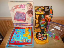 Lot of 2 Vintage Games Ideal Tic Tac Tilt 1968 and Hasbro Pile On 1980 - $23.20
