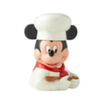 "11"" High Mickey Mouse Cookie Jar -  White Chef Design - Licensed Disney Decor image 1"