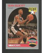 1990-91 NBA Hoops # 267  Sean Elliott -RC -San Antonio Spurs -Mint  - $1.00