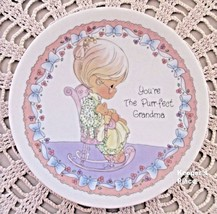 Precious Moments Enesco YOU'RE THE PURR-FECT GRANDMA Plate With Easel MINT - $9.99