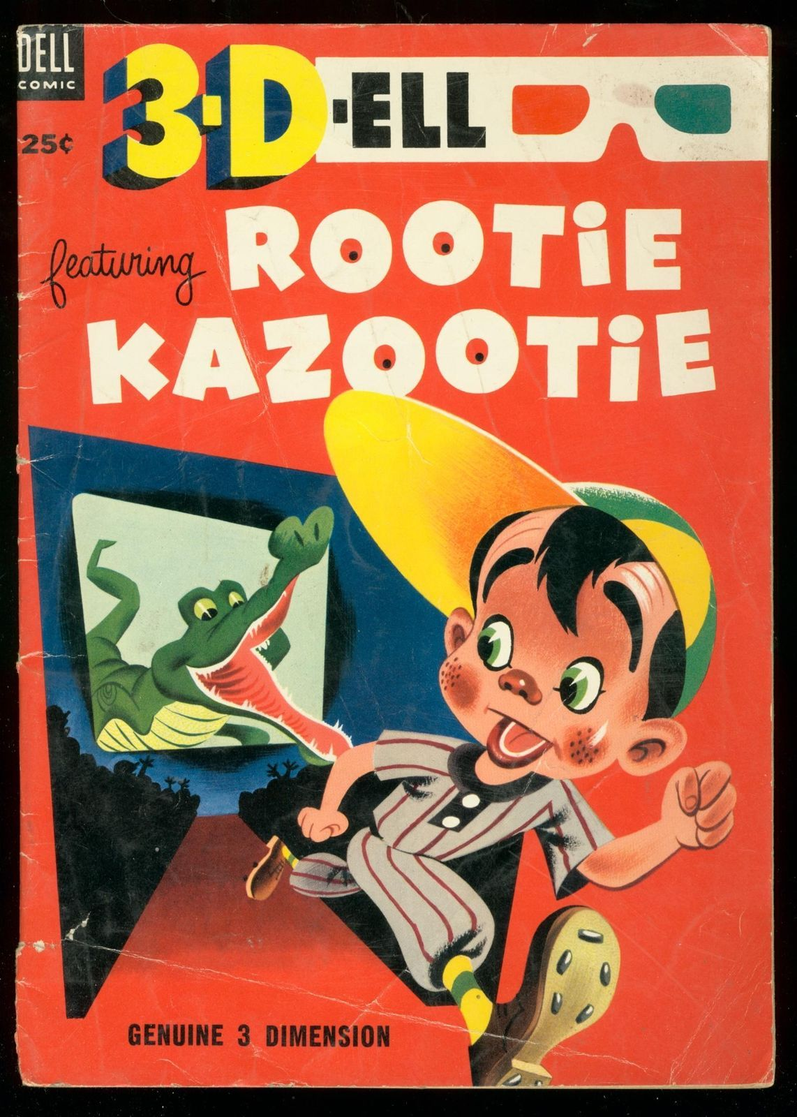 Primary image for 3-DELL #1 1953- DELL COMICS-ROOTIE KAZOOTIE-GATOR COVER VG