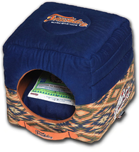 2-in-1 Collapsible Dog House Pet Bed Vintage Diamond Patterned Plush Rec... - $83.73