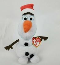 "Disney Frozen TY Sparkle Olaf 8"" Plush Snowman Beanie Babies Stuffed Animal - $10.70"