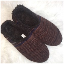 MukLuks Mens Size 10-11 Knit Slippers Brown   Q - $13.39 CAD